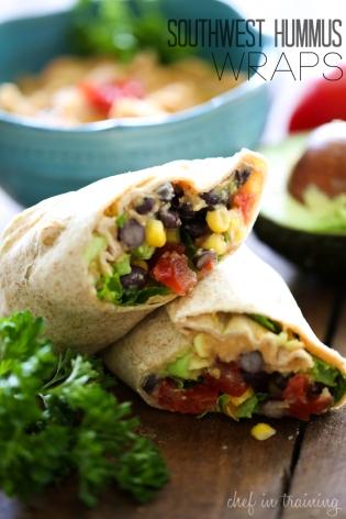 Southwest-Hummus-Wraps