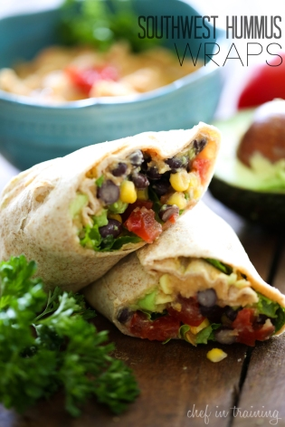 Southwest-Hummus-Wraps