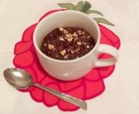 Brownie dans une tasse aux pois chiches